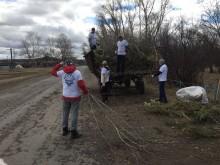 В Зауралье продолжаются субботники по очистке территории